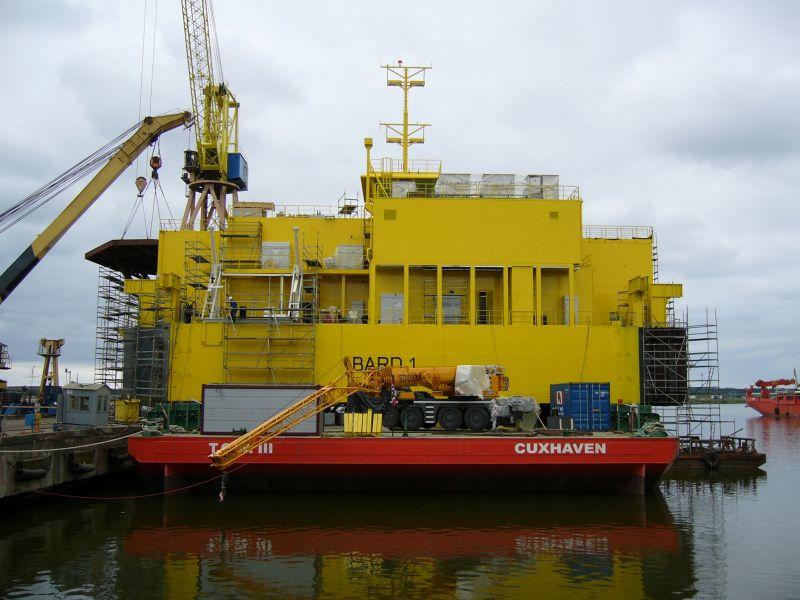 Offshore umspannplattform in litauen